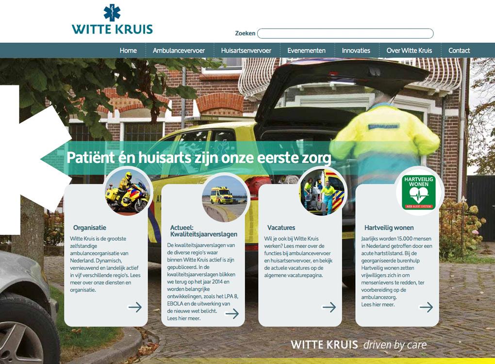 Screendump van de site wittekruis.nl